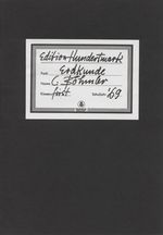 Edition Hundertmark, Claus Böhmler, Booklet no 5