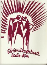Catolog of the exhibition of the Edition Hundertmark at the Goethe Institut London, 1983.